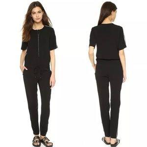 VINCE. Jumpsuit Romper Contrast Trim Black Zipper
